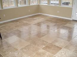 These travertine floor tiles look great with that wall color.
