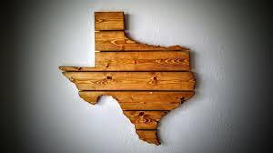 custom made texas wooden state map wall art
