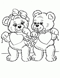 Teddy Bear With Heart Coloring Page Free Printable Pages