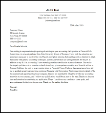 Leading Professional Accountant Cover Letter Examples   Resources