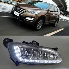 2013 Santa Fe Fog Light Replacement Car Drl Kit For Hyundai Santafe Ix45 2013 2014 2015 Led
