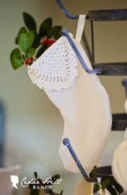 Handmade Christmas Stockings Homespun Christmas Handmade Holidays Cedar Hill Farmhouse
