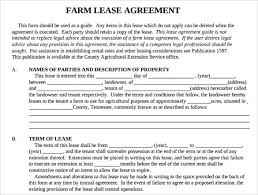 Farm Property Lease Agreement Template Farm Property Lease Agreement ...