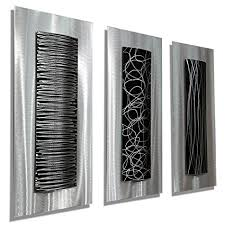 statements2000 contemporary black silver abstract metal wall art accent modern home decor set of on black metal wall art amazon with amazon statements2000 contemporary black silver abstract