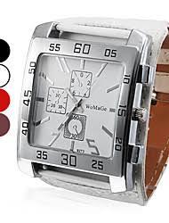 cheap big face watches for men lightinthebox com men s watch dress watch big square dial pu band wrist watch cool watch unique watch fashion