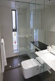 Bathroom Shower Design Bathroom Shower With Long Glass Doors And Chrome Railing Modern