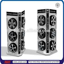 Alloy Wheel Display Stand Tsd M100 Factory Custom Retail Store Advertisement Metal Floor 24