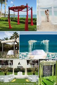 6 Arches Houppas D Cor Es Pour C R Monie En Ext Rieur Deco Ceremonie Mariage Exterieur