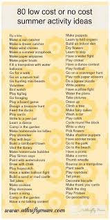 Fun Babysitting Ideas Good Babysitting Ideas 80 No Cost Or Low Cost Summer Activities By