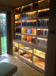 Bookcase Lighting Options Fitted Bookcase With Incorporated Led Concealed Lighting