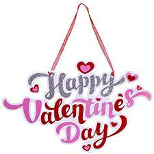 Amazon Com Supla 2 Pcs Valentines Day Door Signs Door Hangers
