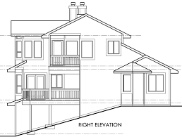 house side elevation view for 9600 view house plans sloping lot house plans multi