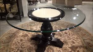hampton round casual dining room table by bassett mirror company home gallery s you