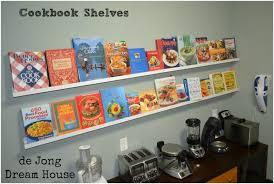 ... Medium Image for Cookbook Shelf Ideas Cook Book Shelves Cookbook Wall Shelf  Cookbook Shelf For Kitchen