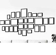 <b>28Pcs</b> Black Wall Hanging Polymer Art Picture Photo Frame Set with ...