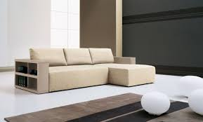 modular furniture for small spaces. Light Cream Modular Sofa With Side-table For Storage Pure White Ball Ornaments Living Furniture Small Spaces N