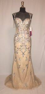 Details About Paparazzi Morilee Mori Lee Prom 98057 Party Pageant Formal Dress 6 Nude Nwt