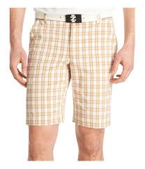 Izod Shorts Size Chart Izod Mens Plaid Golf Athletic Workout Shorts