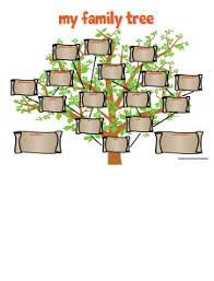 Blank Family Tree Charts To Print Blank Family Tree Chart