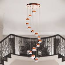 Hanging Paper Lantern Lights Indoor Modern Stylish 14balls Hanging Led Light Md14003057 Rose Gold