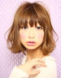 小顔ミディアムボブパーマ髪型ke 36 ヘアカタログ髪型ヘア