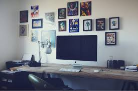 amusing decorating ideas home office. Chic Home Office Furniture Designs With Desks For Imac : Amusing Decorating Ideas Using Rectangular Brown