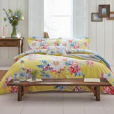 joules whitle fl duvet cover for super king size bed in yellow jpg