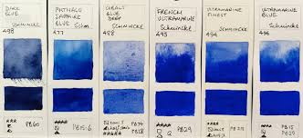 Paris Blues Size Chart Jane Blundell Artist Schmincke Watercolours 2017 Full Range