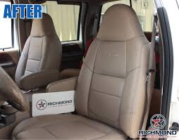 2003 2006 ford expedition ed bauer leather seat cover driver lean back 2 tone tan