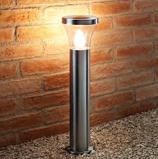 Stainless Steel Outdoor Post Lights Details About Auraglow Ip44 Stainless Steel Garden Path Post Light Led Light Bulb Included
