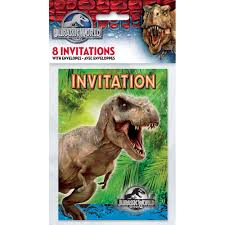 Jurassic Park Invitations Jurassic World Invitations 8ct