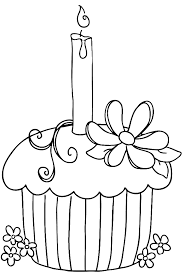 Free Happy Birthday Cupcake Coloring Pages 3917 Happy Birthday