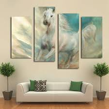 beautiful white horse canvas art prints modern wall decoration picture on bedroom in painting calligraphy from home garden on aliexpress alibaba  on country style wall art australia with beautiful white horse canvas art prints modern wall decoration