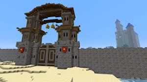 minecraft gate. Interesting Minecraft Recreation Of The Gate Setting Sun From World Warcraft MoP  Intended Minecraft