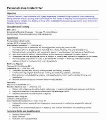 Personal Lines Underwriter Resume Example Citizens Property