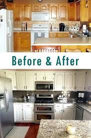 white painted oak kitchen cabinets. White Oak Kitchen Cabinets Remodel Painted Before After Looks A Lot Like My .