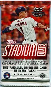Since 1980 & now on ebay, sportscardspacksandboxes carries hot new raw & graded sports cards. 2016 Topps Stadium Club Baseball Hobby 8 Card Pack Sealed Random Heroes Sports Cards
