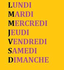 French Days Of The Week French Days Of The Week Simplefrenchwords Com
