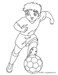 Coloriage D Un Joueur De Foot Style Manga Et Dessin Anim Un Dessin