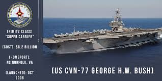 Image result for USS George H.W. Bush (CVN 77)