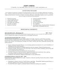 Accounting Manager Resume Template Resume Sample Web