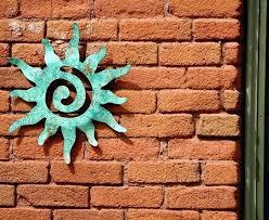 metal sun wall art outdoor sun art wall hanging medium size garden wall art via smiling metal sun wall art