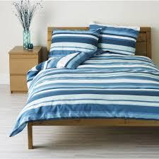 wilko duvet set double striped blue
