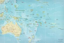map of oceania  pacific islands french polynesia