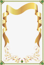 gold ribbon border gold ribbon border green gems frame green golden png image and