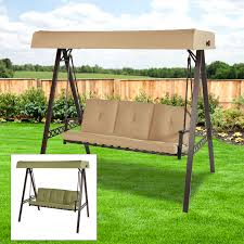 patio swing canopy replacement replacement canopy for 3 person swing beige riplock outdoor patio swing canopy