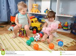 Children Playroom Two Children In Playroom Stock Images Image 4388104
