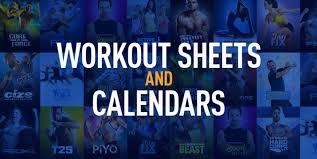 Workout Logs Workout Sheets And Calendars The Beachbody Blog