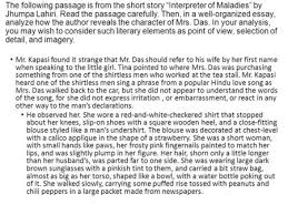 "interpreter of maladies ppt  the following passage is from the short story ""interpreter of maladies"" by jhumpa lahiri"