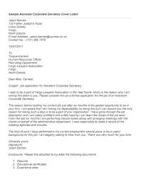 Legal Assistant Cover Letter Examples Secretary Cover Letter